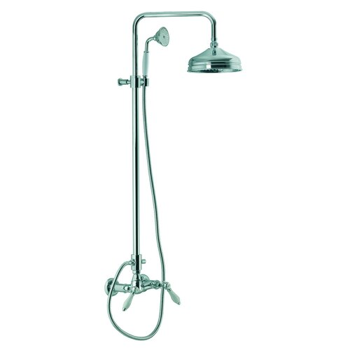 Herend Wall Mount Thermostatic Shower Faucet With Rain Shower Head And Hand S