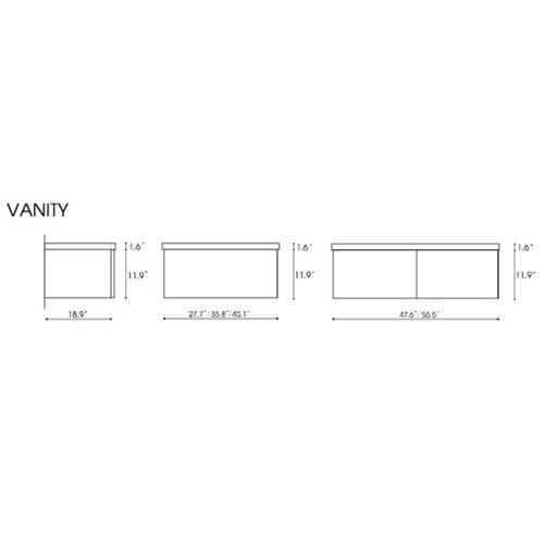 """Iotti by Nameeks Fly 56.5"""" Bathroom Vanity Set"""