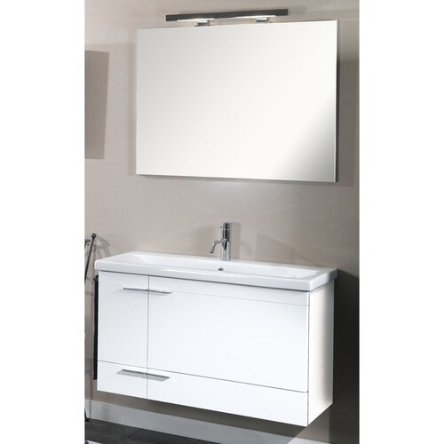 "Iotti by Nameeks Simple 39.3"" Wall Mounted Bathroom Vanity Set"