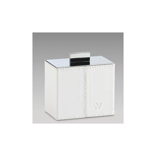 White Leather Bathroom Jar