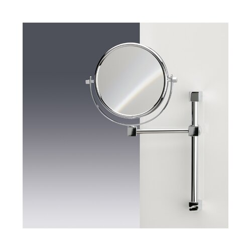 Windisch by Nameeks Double Face Wall Mounted 7X Magnifying Mirror with One Arm and One Brazo