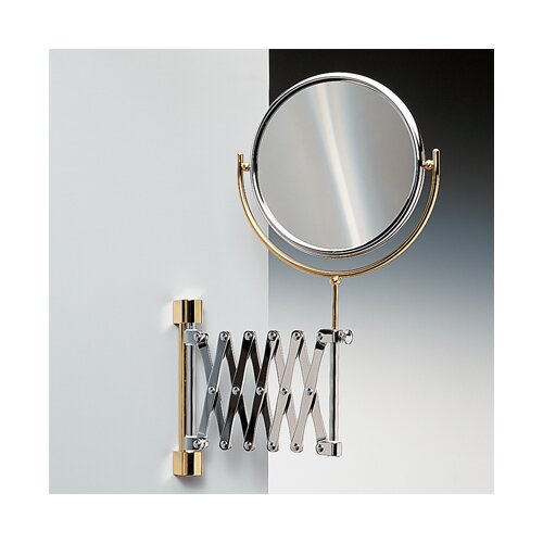 Double Face Wall Mounted Adjustable and Extendable 7X Magnifying Mirror