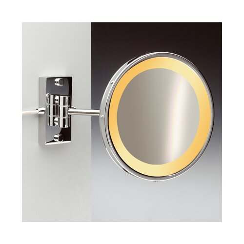 Incandescent Light 5X Magnifying Mirror with One Arm