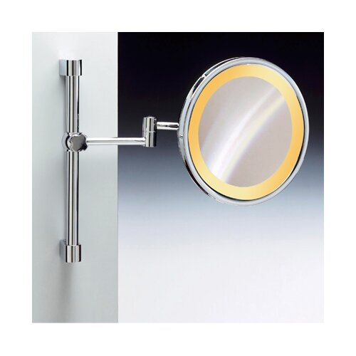 Incandescent Light Extendable and Adjustable 5X Magnifying Mirror