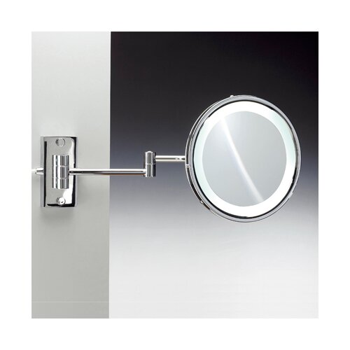 Fluorescent Light Extendable 5X Magnifying Mirror