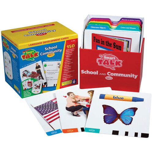 Educational Insights Card Set #2: School and Community (Smart Talk)
