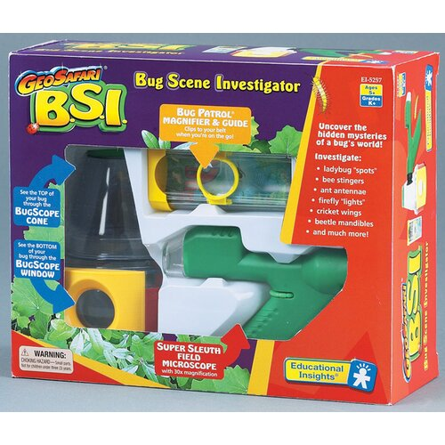 Educational Insights GeoSafari B.S.I. - Bug Scene Investigator