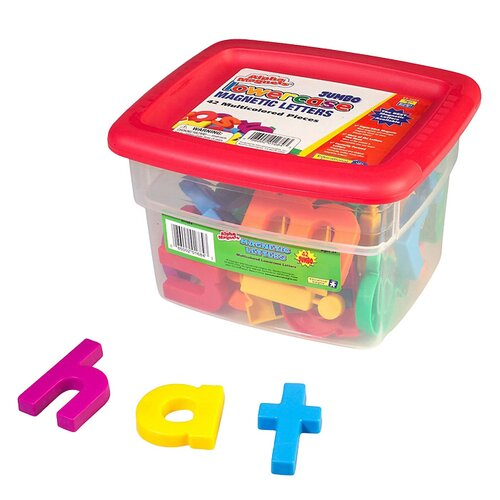 Educational Insights Jumbo Lowercase AlphaMagnets - Multicolored