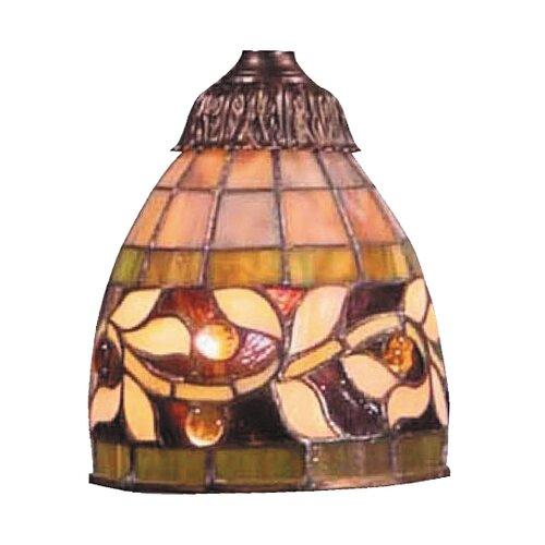 "Landmark Lighting 6"" English Ivy Glass Bell Pendant Shade"