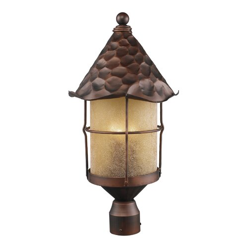 Landmark Lighting Rustica 3 Light Outdoor Post Lantern