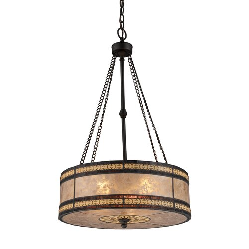 Landmark Lighting Mica Filigree 3 Light Drum Pendant
