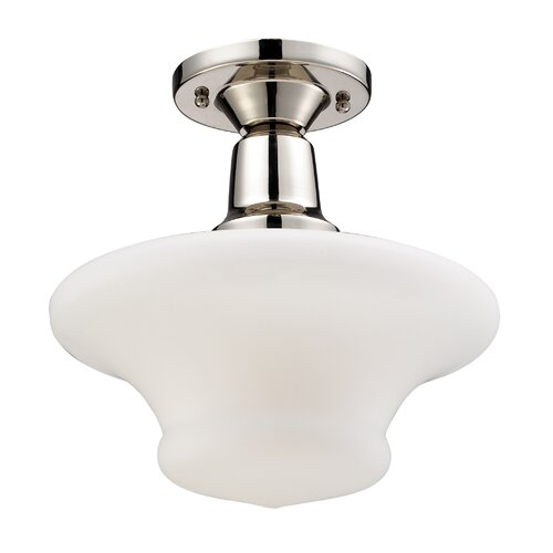 Landmark Lighting Barton 1 Light Semi-Flush Mount