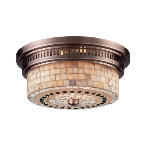 Landmark Lighting Chadwick 2 Light Flush Mount