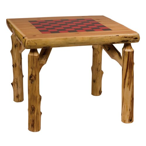 Traditional Cedar Log Game Table
