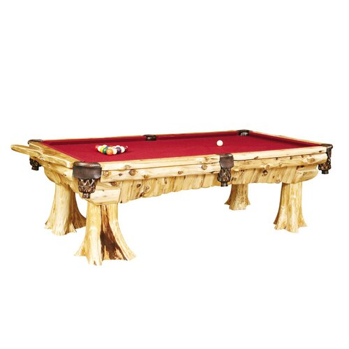 Traditional Cedar Log 8' Pool Table