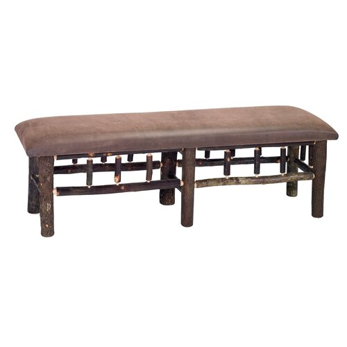 Fireside Lodge Hickory Wood Bench