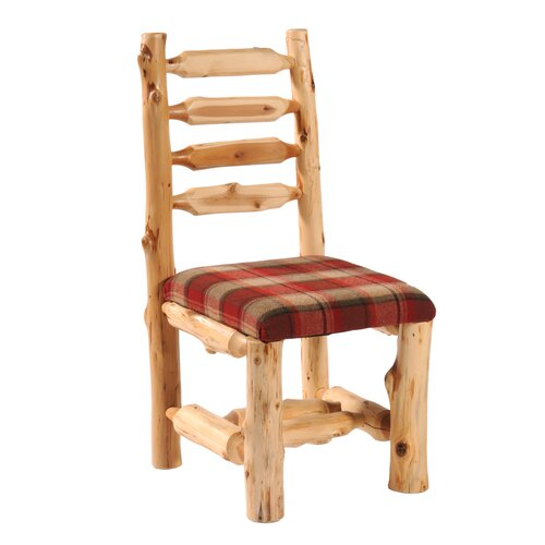 Fireside Lodge Traditional Cedar Log Upholstered Side Chair