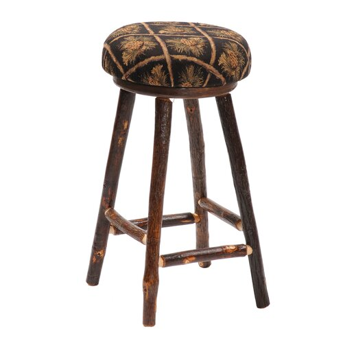 "Fireside Lodge Hickory 24""  Barstool"