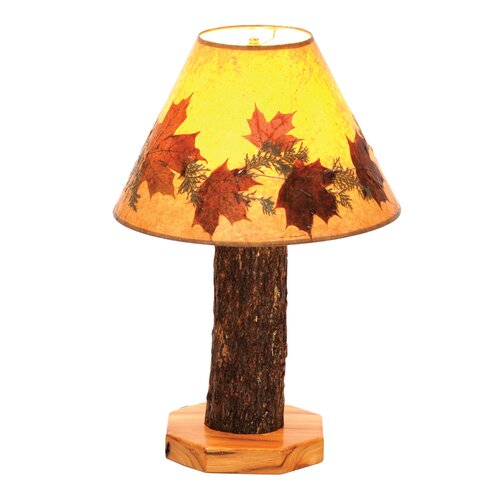"Fireside Lodge Hickory 27"" H Table Lamp with Empire Shade"