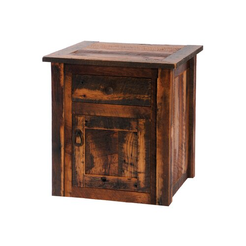 Fireside Lodge Reclaimed Barnwood End Table