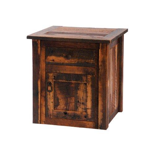Fireside Lodge Reclaimed Barnwood End Table