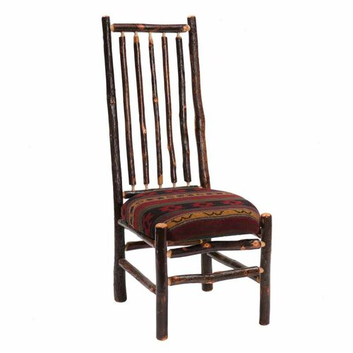 Fireside Lodge Hickory High Back Spoke Fabric Side Chair