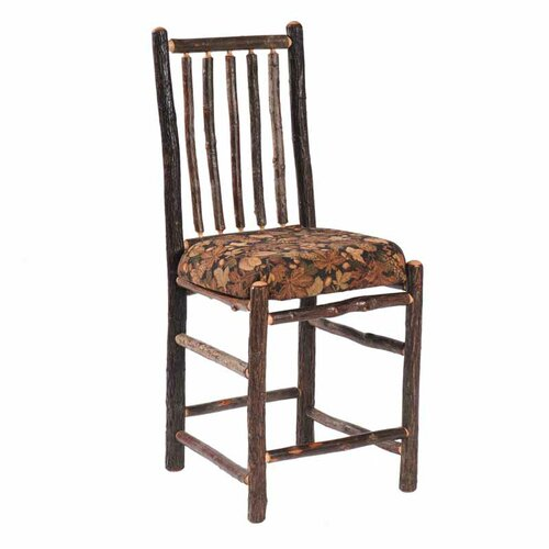 Hickory Armless Counter Fabric Side Chair