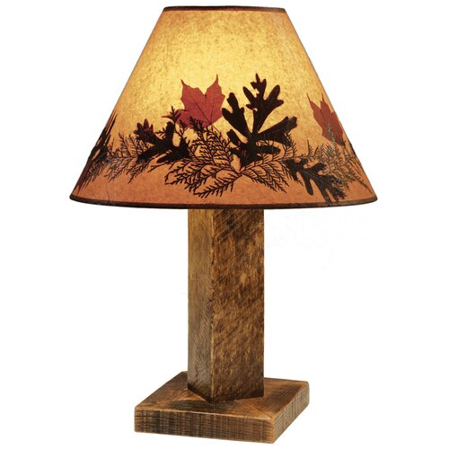 "Fireside Lodge Barnwood 26"" H Table Lamp with Empire Shade"