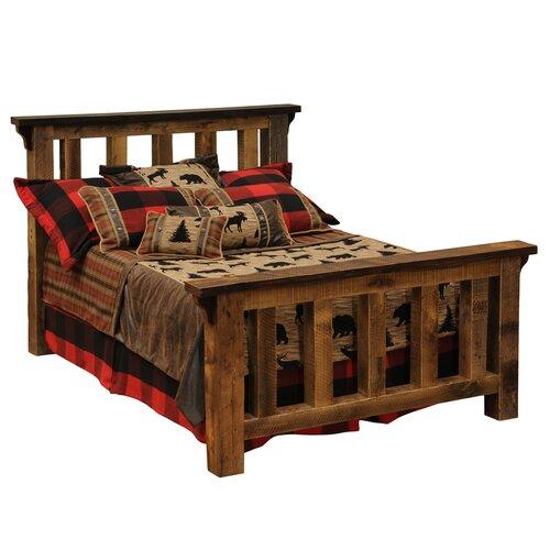 Fireside Lodge Barnwood Post Slat Bed