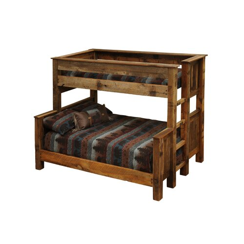 Fireside Lodge Barnwood Bunkbed with Built-In Ladder