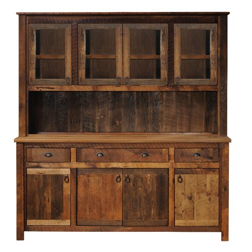 All fireside lodge wayfair for Barnwood kitchen cabinets