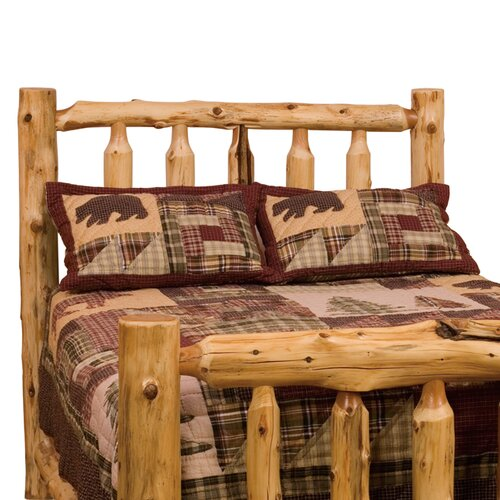 Fireside Lodge Traditional Cedar Log Slat Headboard