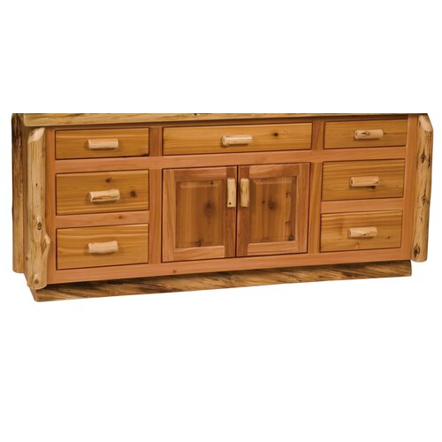 "Fireside Lodge Traditional Cedar Log 72"" Bathroom Vanity Base"