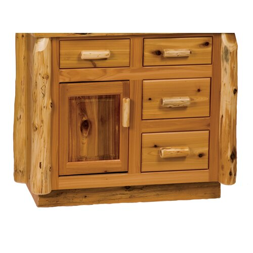 "Fireside Lodge Traditional Cedar Log 36"" Bathroom Vanity Base"