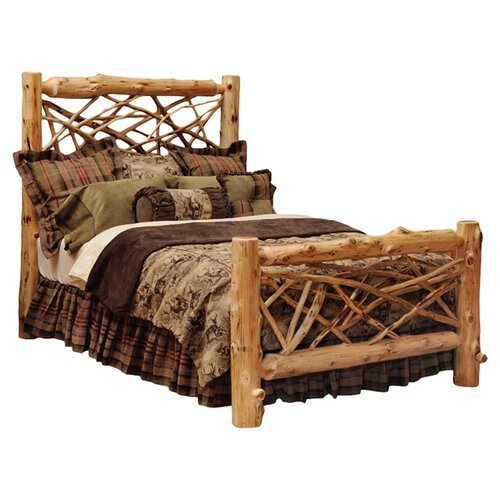 Fireside Lodge Traditional Cedar Log Slat Bed