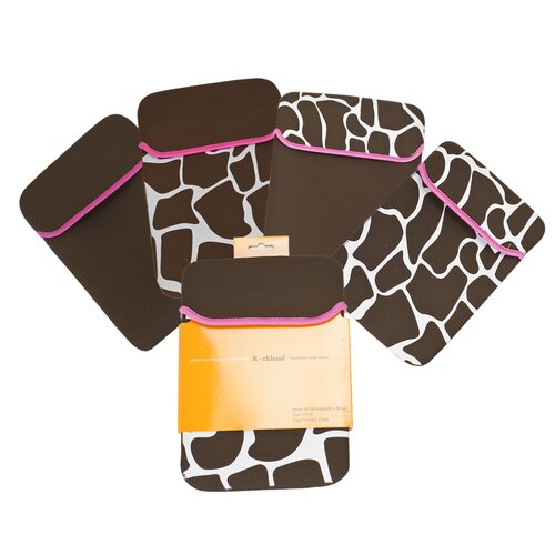 Pink Giraffe Laptop Sleeve