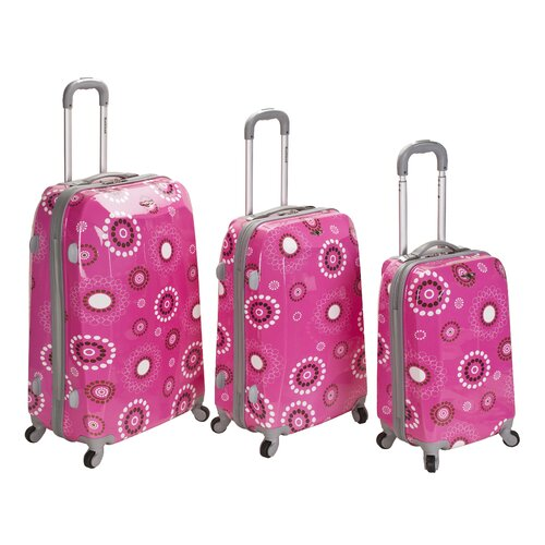 Rockland Vision 3 Piece Polycarbonate/ABS Spinner Luggage Set