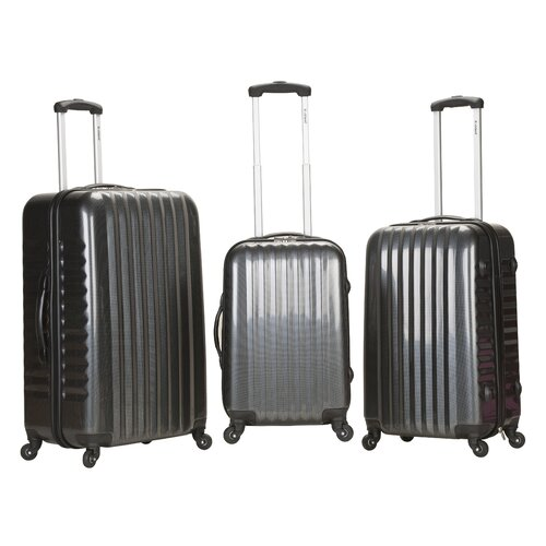 Carbon Fiber 3 Piece Luggage Set
