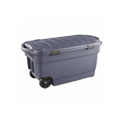 Rubbermaid Roughneck Wheeled Storage Box Dark Indigo Metallic