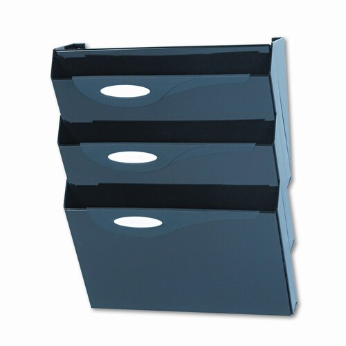 Rubbermaid Classic Hot File Four-Pocket Hanger Set for Partitions, Letter, Smoke