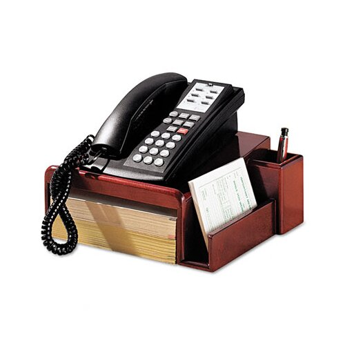 Rubbermaid Rolodex Wood Tones Phone Center Desk Stand, 12 1/8 X 10