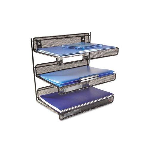 Rubbermaid Rolodex Mesh 3-Tier Letter Size Desk Shelf