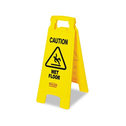 Rubbermaid Commercial Caution Wet Floor Floor Sign
