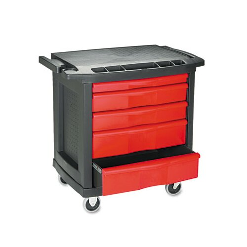 Rubbermaid Commercial 5-Drawer Mobile Work Table
