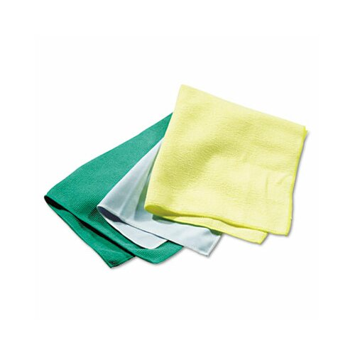 Rubbermaid Commercial Reusable Cleaning Cloths, Microfiber, 12/Carton