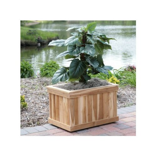 Diamond Teak Rectangular Box Planter