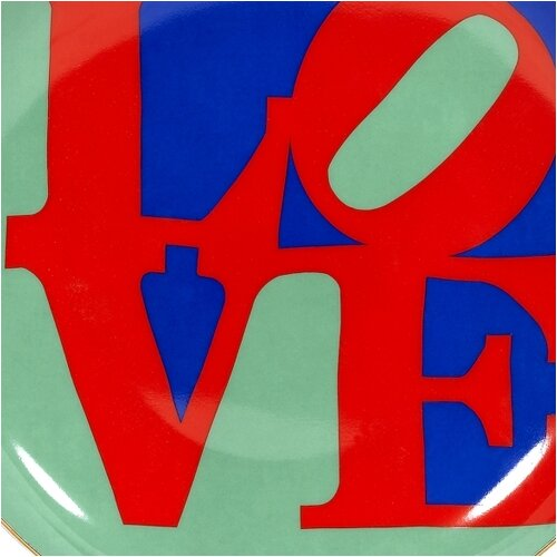 "PS Collection Robert Indiana ""Love"" 8"" Dessert / Salad Plate"