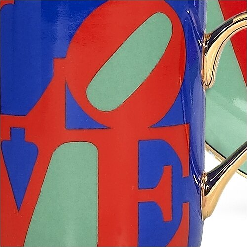 "PS Collection Robert Indiana ""Love"" 3 oz. Espresso Cup and Saucer"