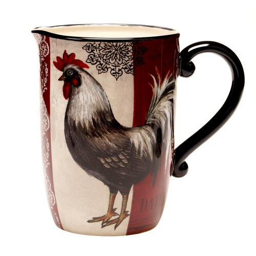 Fancy Rooster 3 Qt. Pitcher
