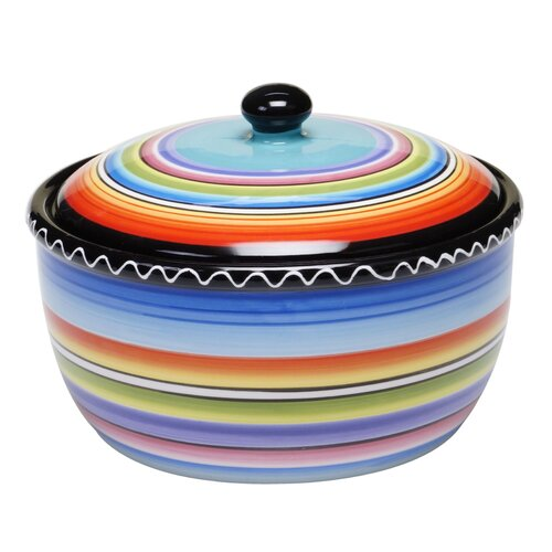 Tequila Sunrise 2-qt. Durable Stoneware Round Dutch Oven